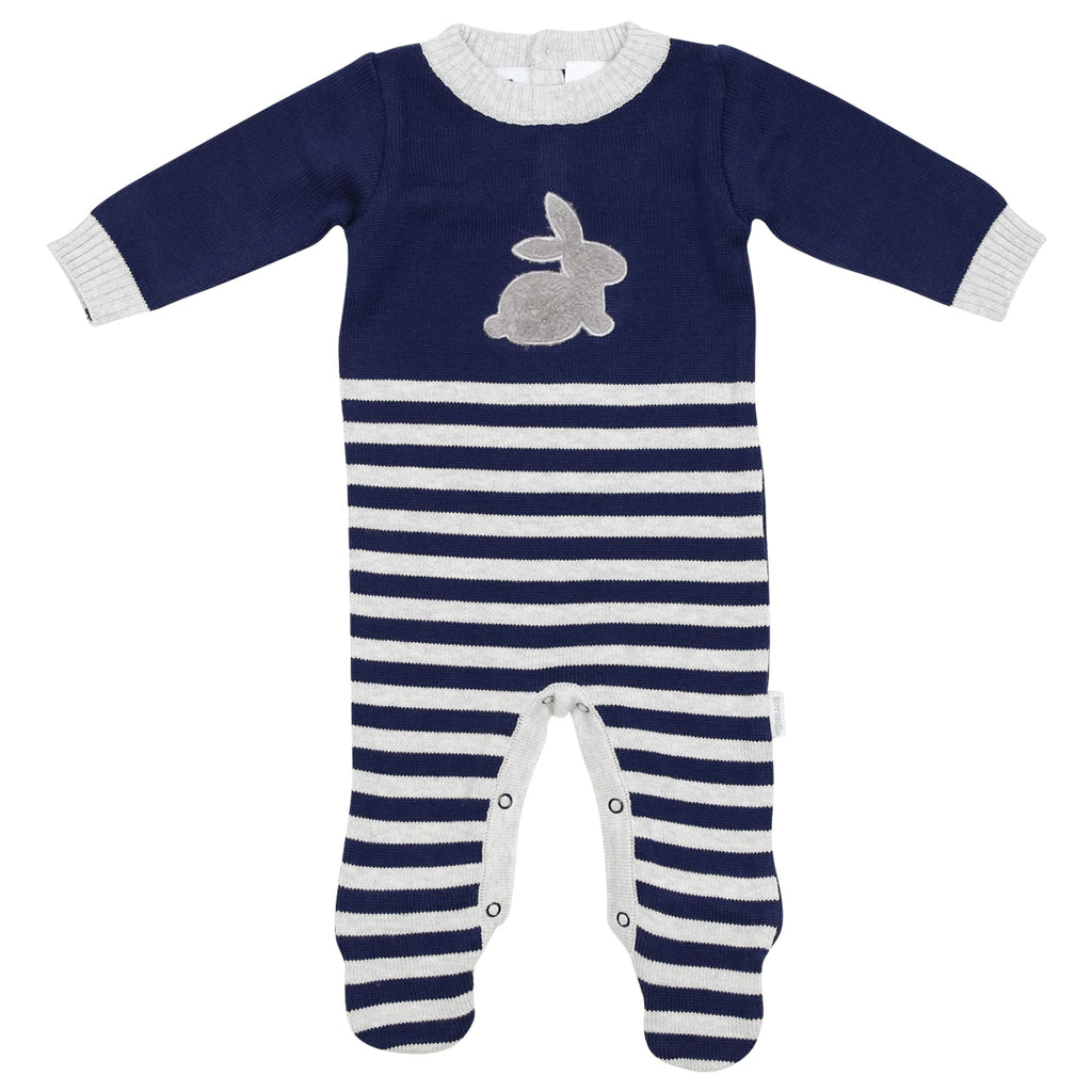 B1507N So Bunny Knit Romper