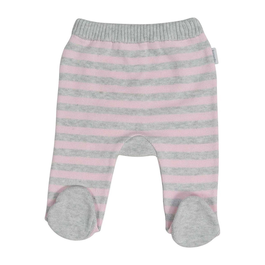 B13026P Baa Baa White Sheep Stripe Knit Legging-Bottoms-Korango