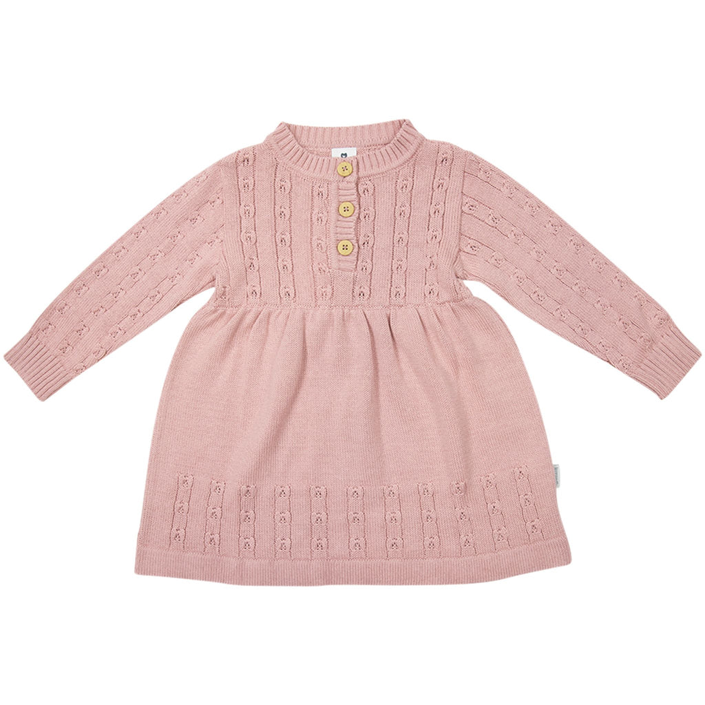 C1738P Girl Polka Knit Dress