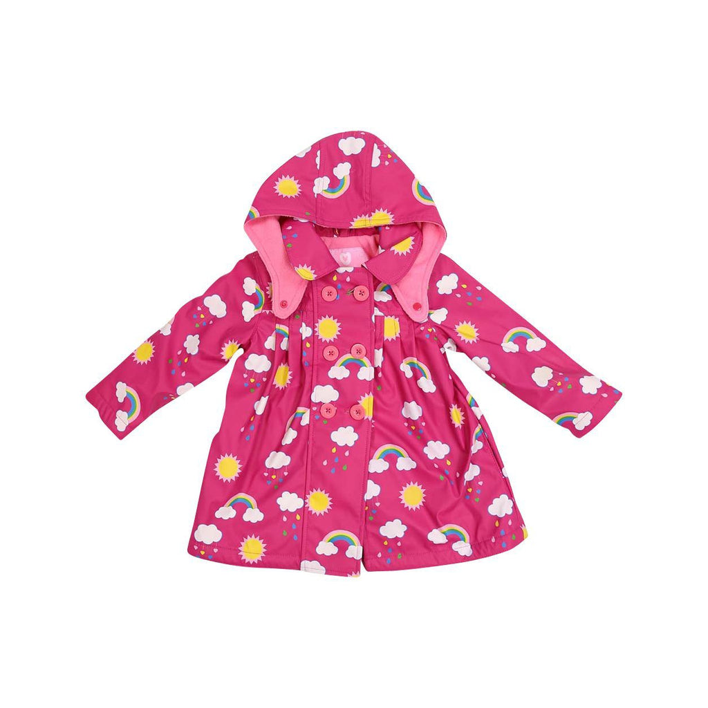 A1340P Rainwear Raincoat Rainbow Print Polar Fleece Lined-Rain Wear-Korango