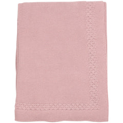 C1508P Natural Class Links Knit Blanket
