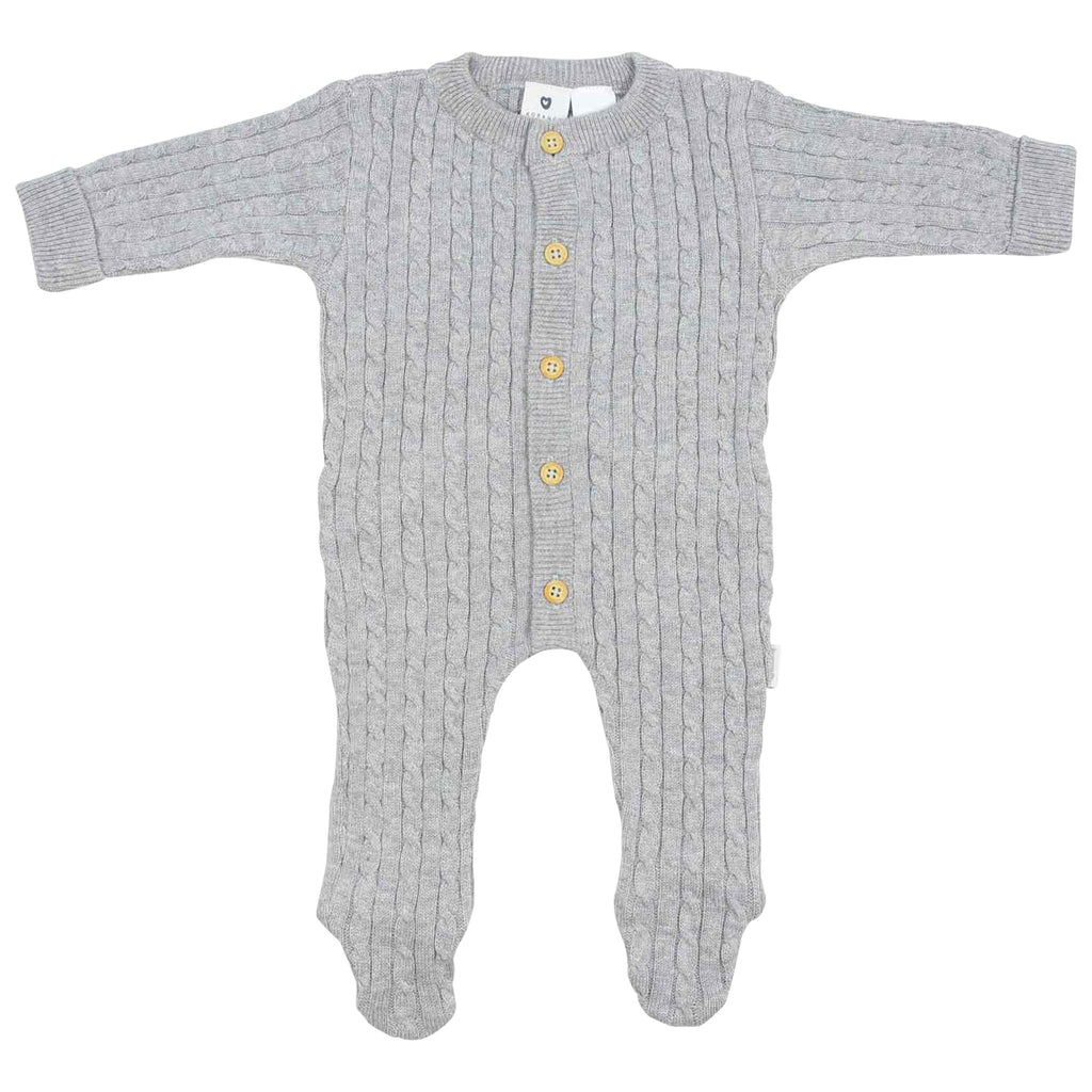 C1527G Cables n Class   Cable Knit Romper