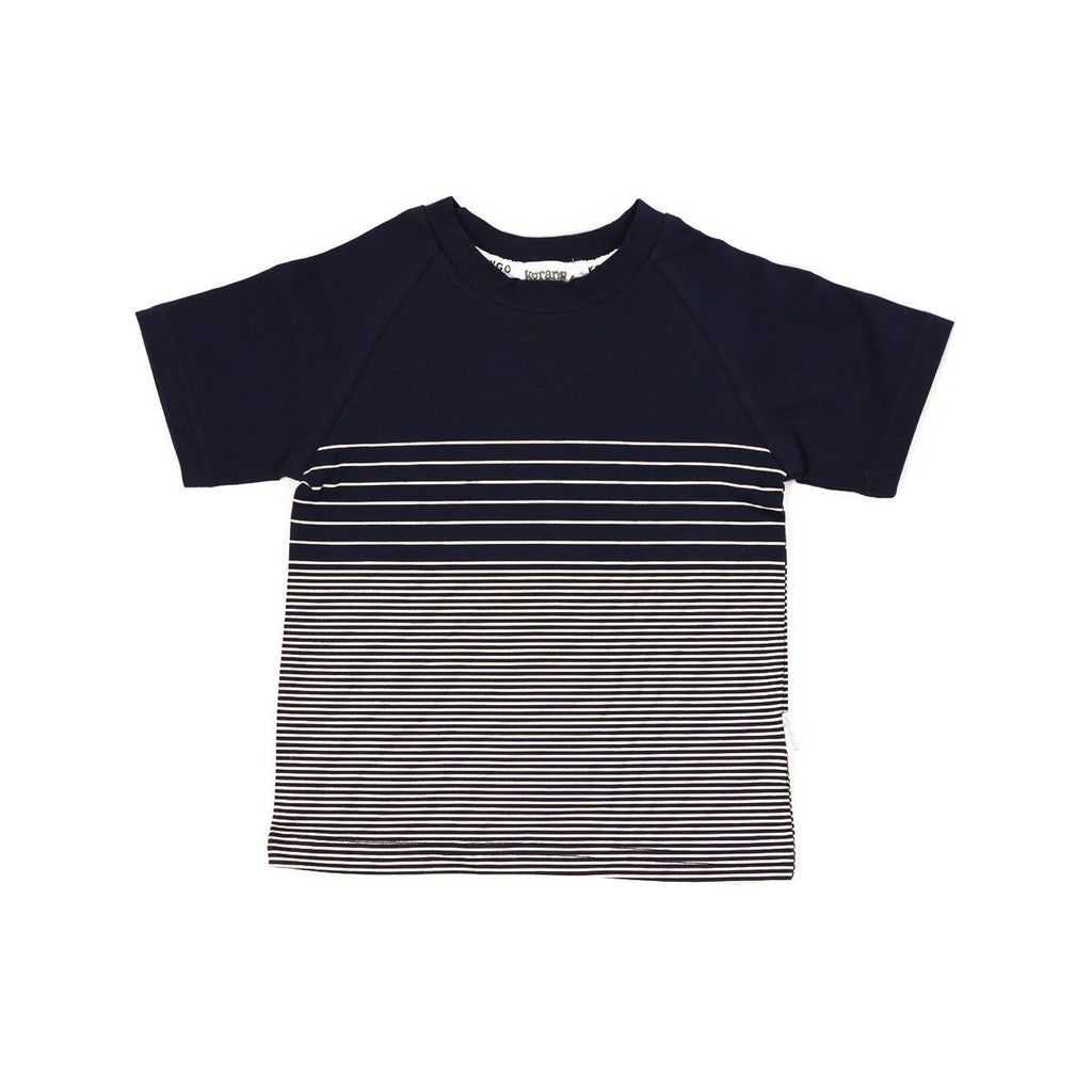 C6025 Scooter Striped Tee-Tops-Korango