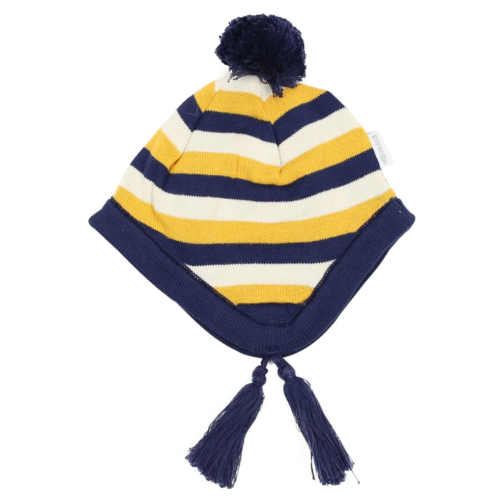 A1506N Polar Bear Striped Knit Beanie