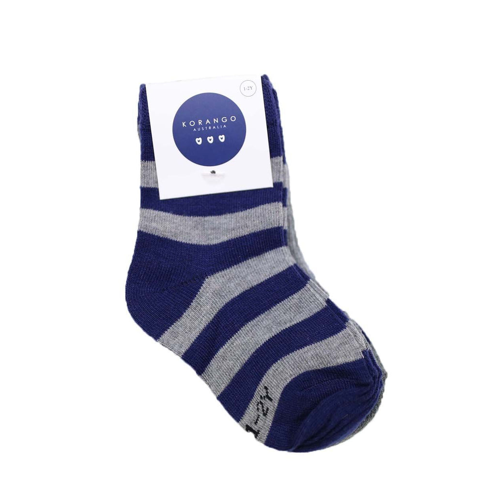 E1032C Essentials 3 Pack Socks-Accessories-Korango