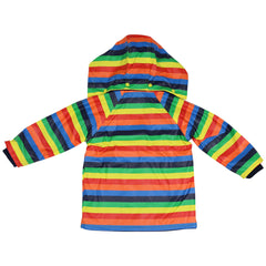 A1558B Rainwear Rainbow Striped Raincoat