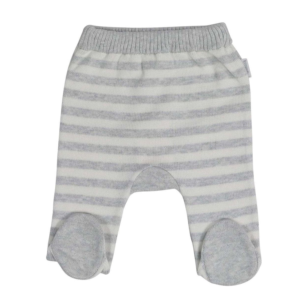 B13026C Baa Baa White Sheep Stripe Knit Legging-Bottoms-Korango