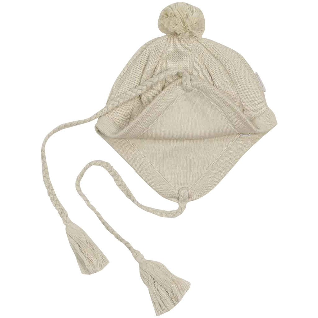 C1536B Natural Girl,Baby Girl Cable Knit Beanie
