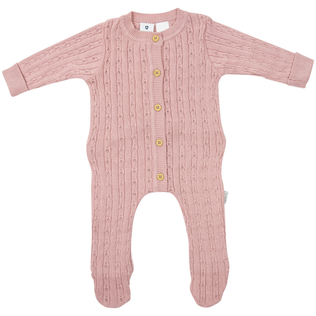 C1718P Fine Cable Knit Romper