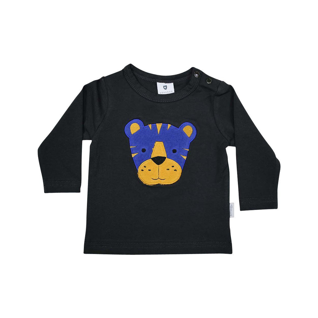 B13003C Little Tiger Applique Top-Tops-Korango
