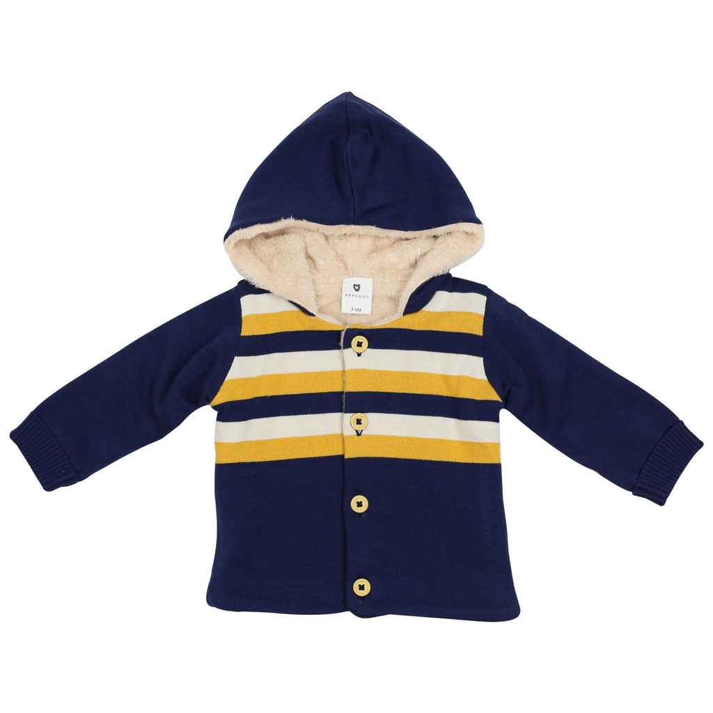 A1501N Polar Bear Lined Knit Jacket