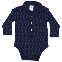 C1524N Cables n Class   Collared Spot Bodysuit