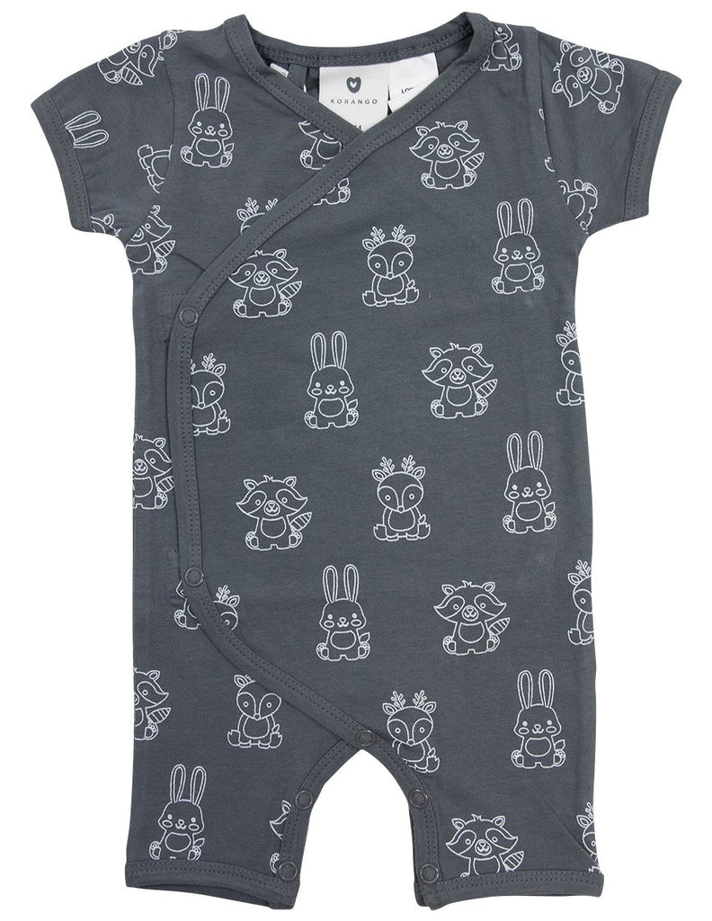 B1602CP Forest Friends Organic Short Sleeve Romper