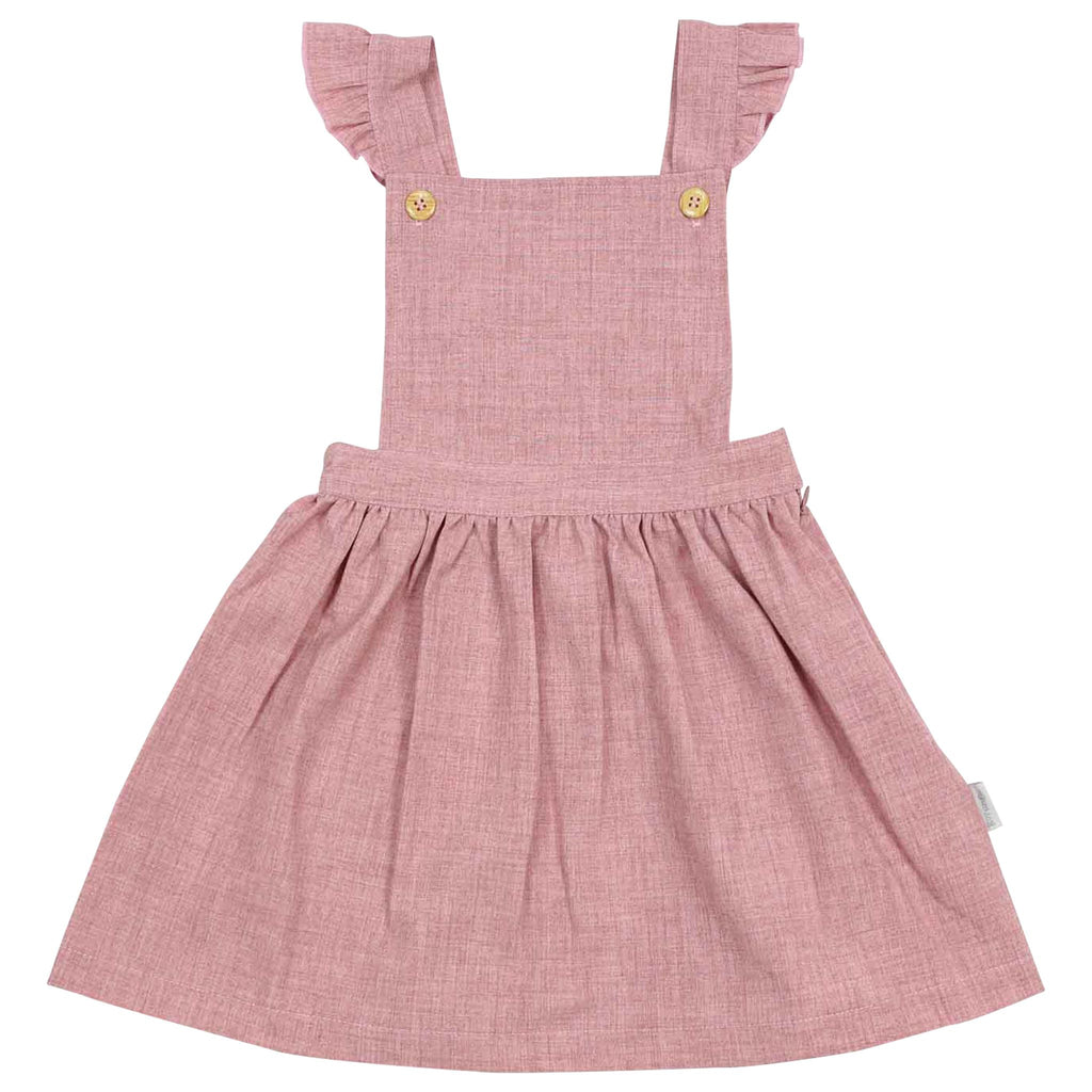 C1534P Natural Girl,Baby Girl Frill Pinafore