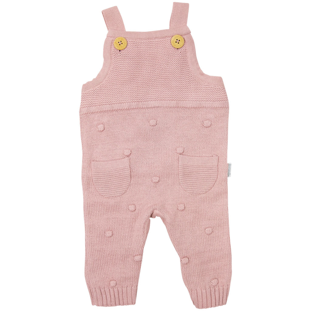 C1706P Baby Polka Knit Overall