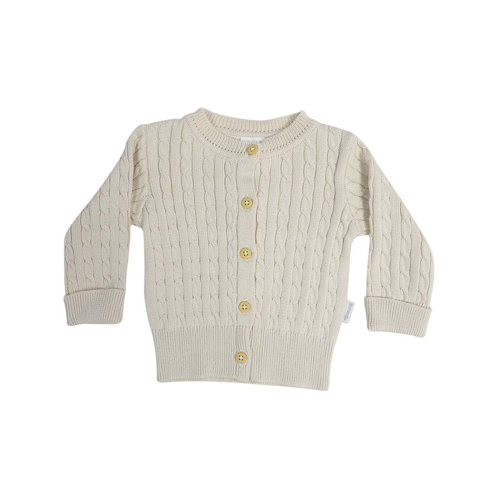 C13014B Classique Girl Cable Knit Cardigan-Cardigans/Sweaters/Jackets-Korango