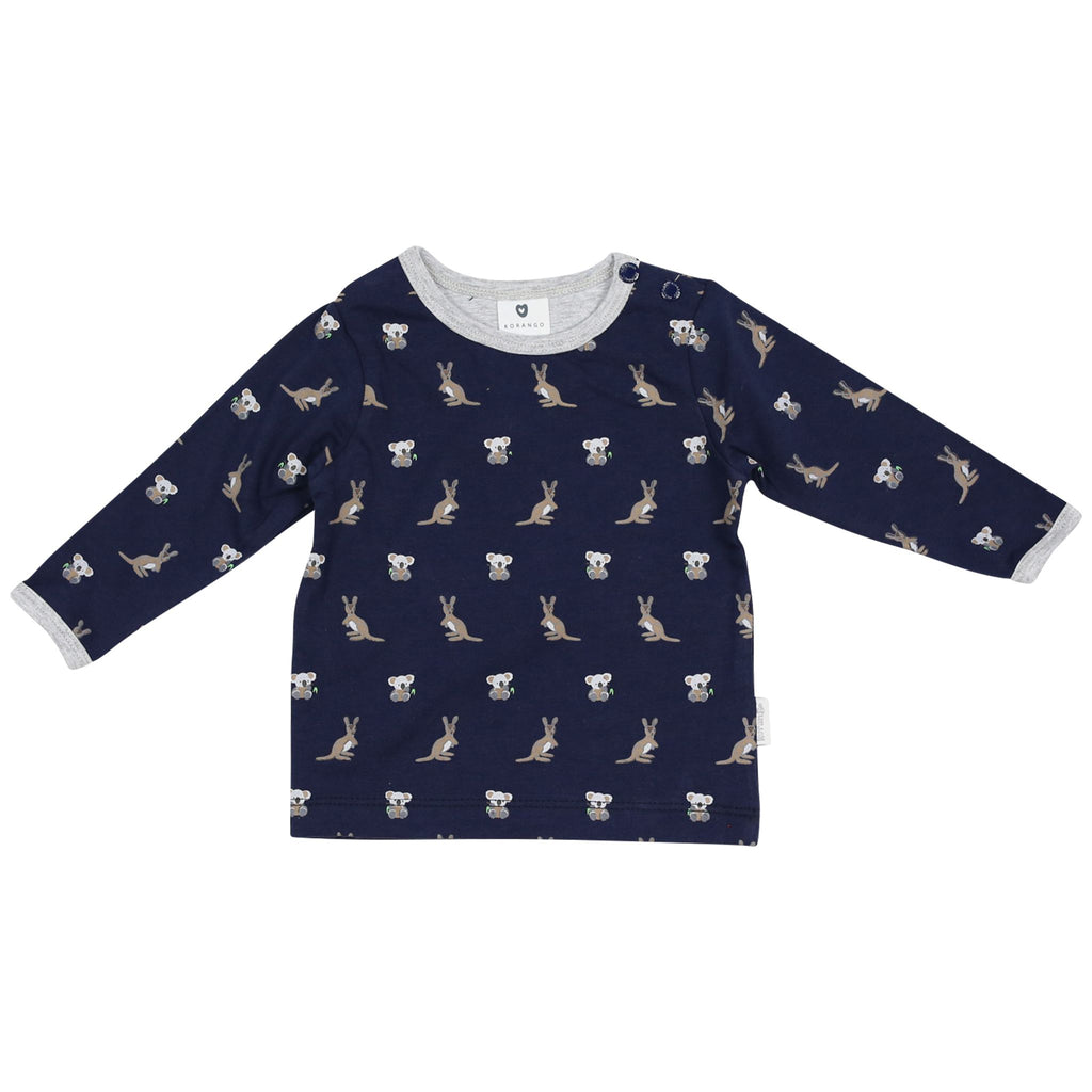 B1514N The Kangaroo and Koala L/S Printed top