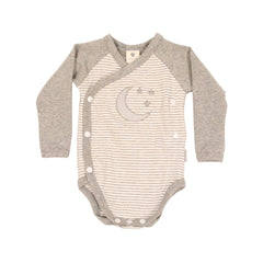 B9032G Wool Blends Long Sleeve Bodysuit-All In Ones-Korango