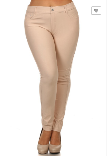Jegging-Full Length Camel