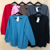 Long Sleeve V-Neck Sweatshirts