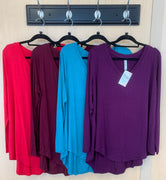Long Sleeve V-Necks