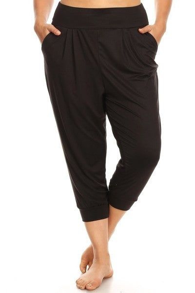 Cropped Joggers- Black