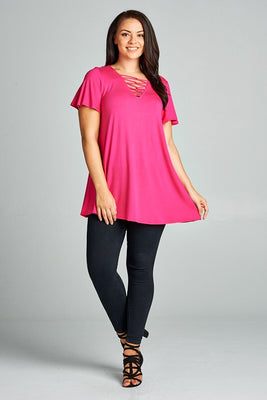 Criss Cross Neckline Tunics