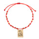 Scapular Virgin Medallion Red String Bracelet