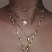 Two-tone double-chain necklace