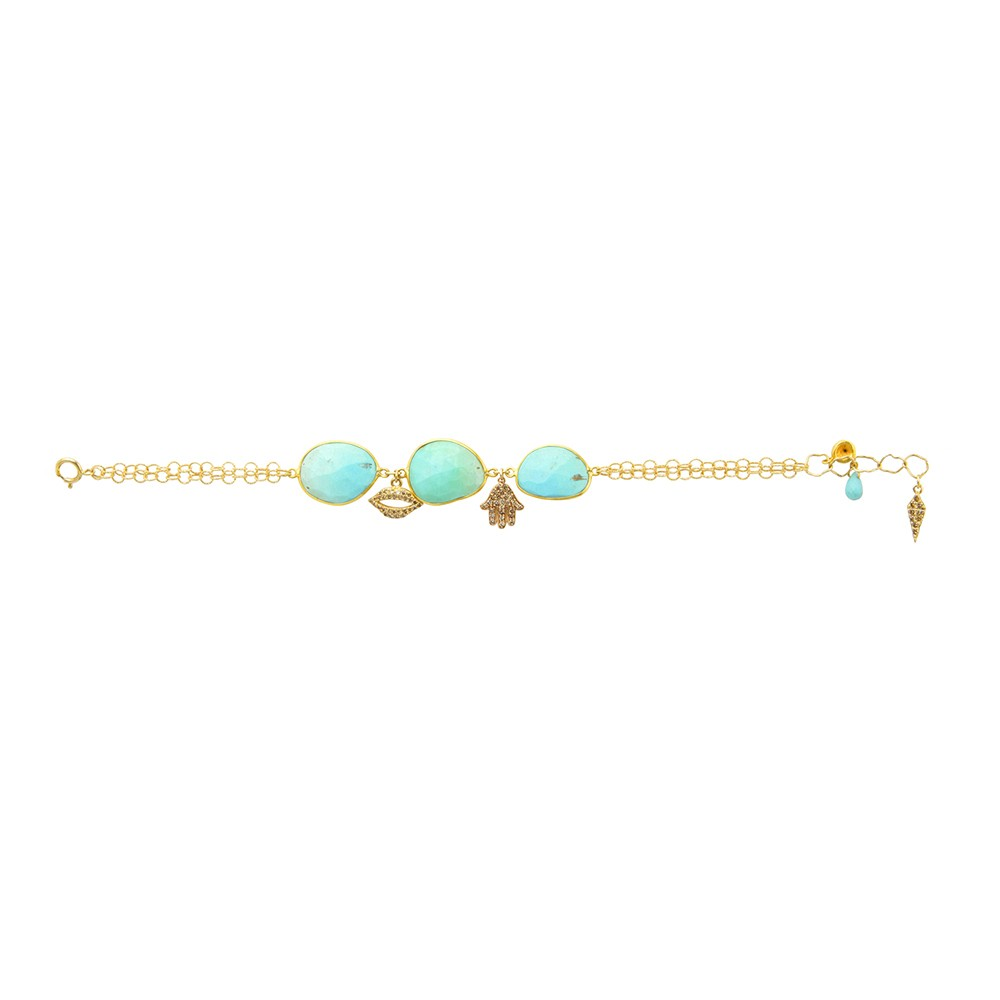 Chain bracelet with turquoise