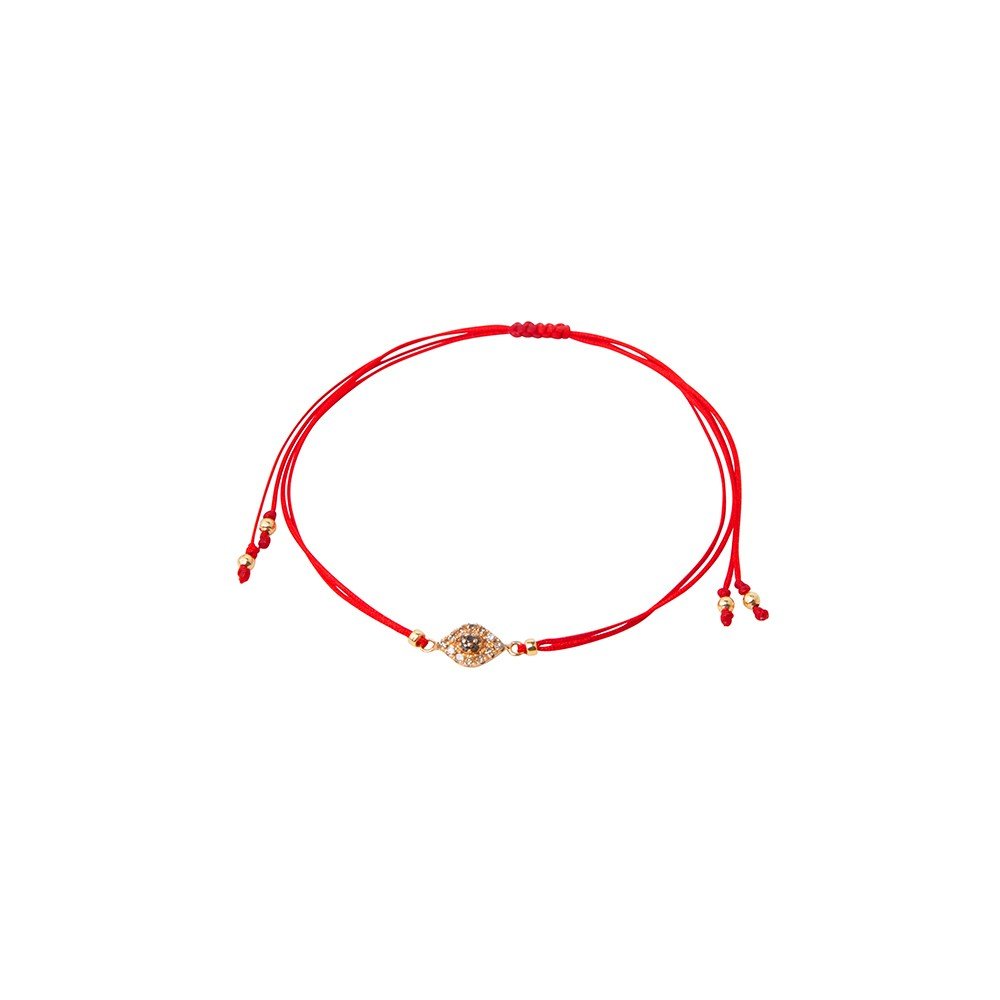 Red string bracelet with God eye