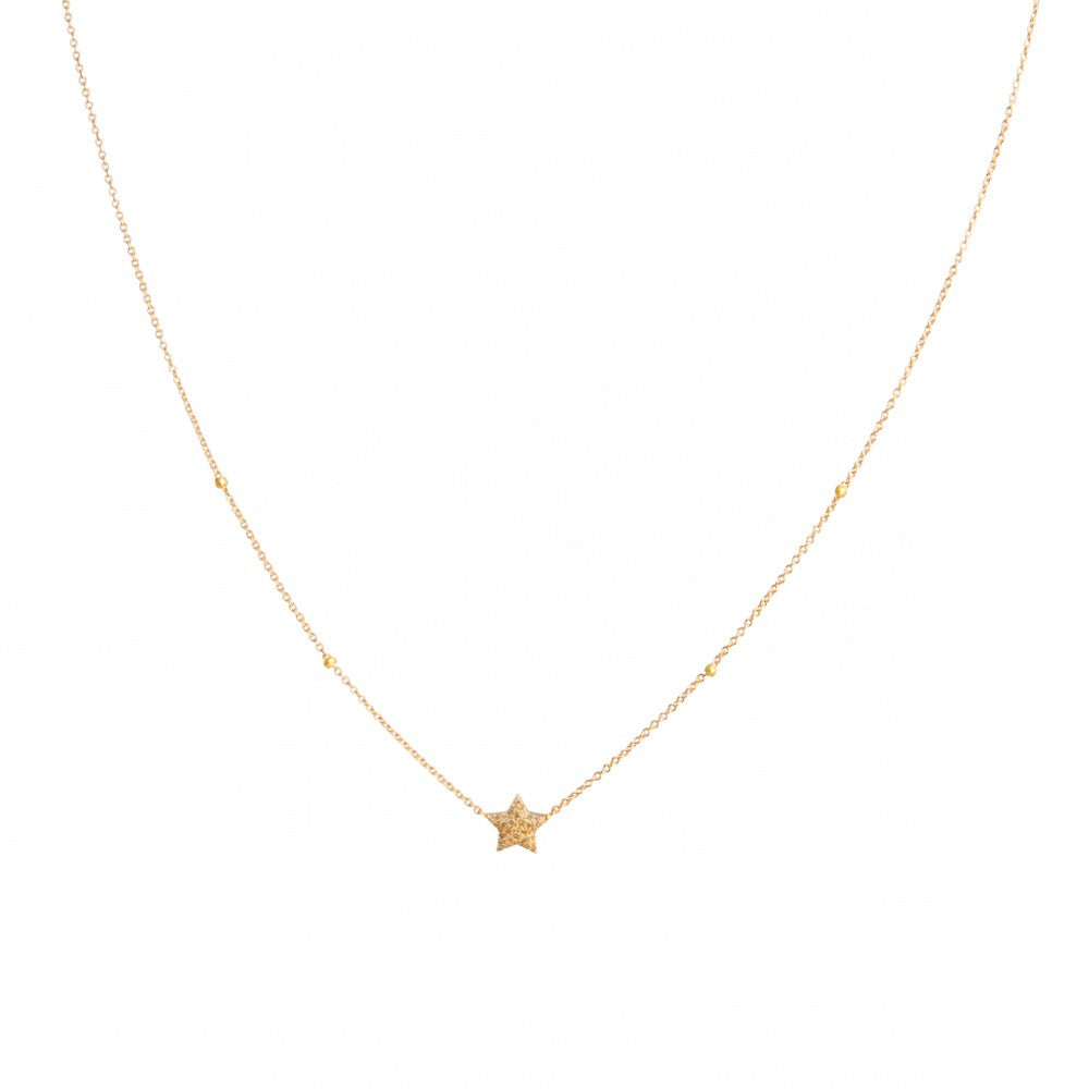 Rose Gold Diamond Star Necklace