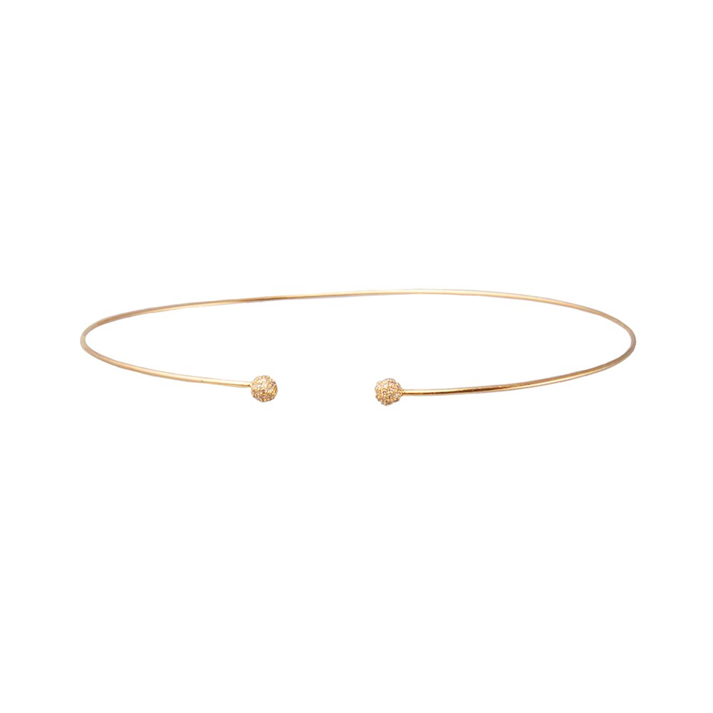 Diamond Accented Gold Choker