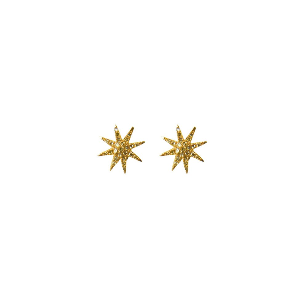 Star Burst Long Drop Earrings