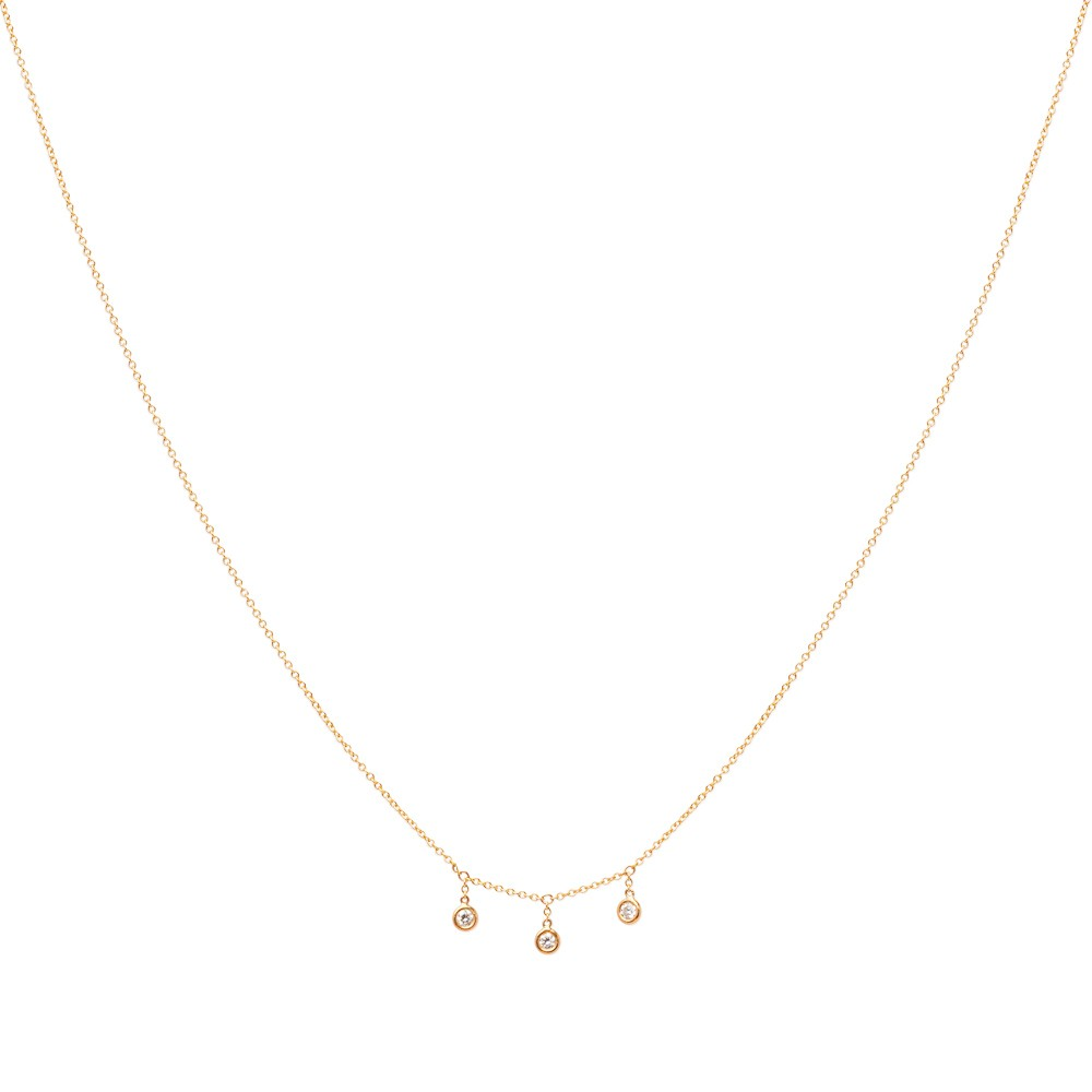 3 Diamond Droplet Necklace