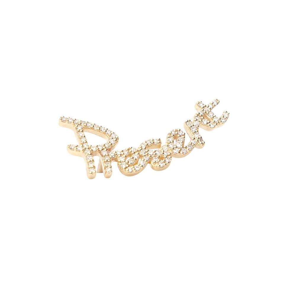 Diamond Present Earring Climber
