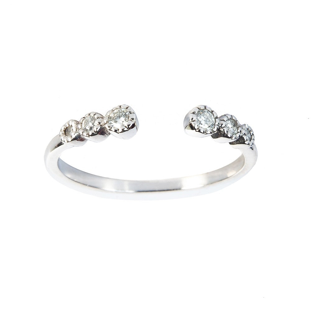 Open Band Diamond Ring