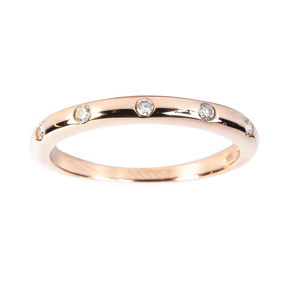 Gold Band Diamond Eternity Ring