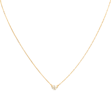 0.50CT Solitary Diamond Necklace