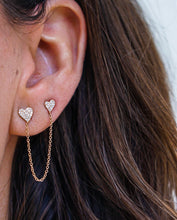 Double Heart Stud Earring