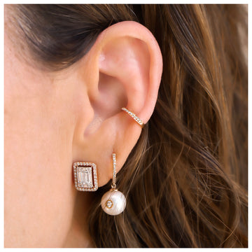 Diamond Row Earring Cuff