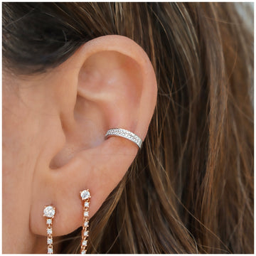 2 Diamond Row Earring Cuff