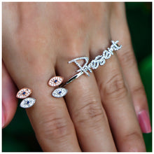 Two Finger Diamond Present Ring