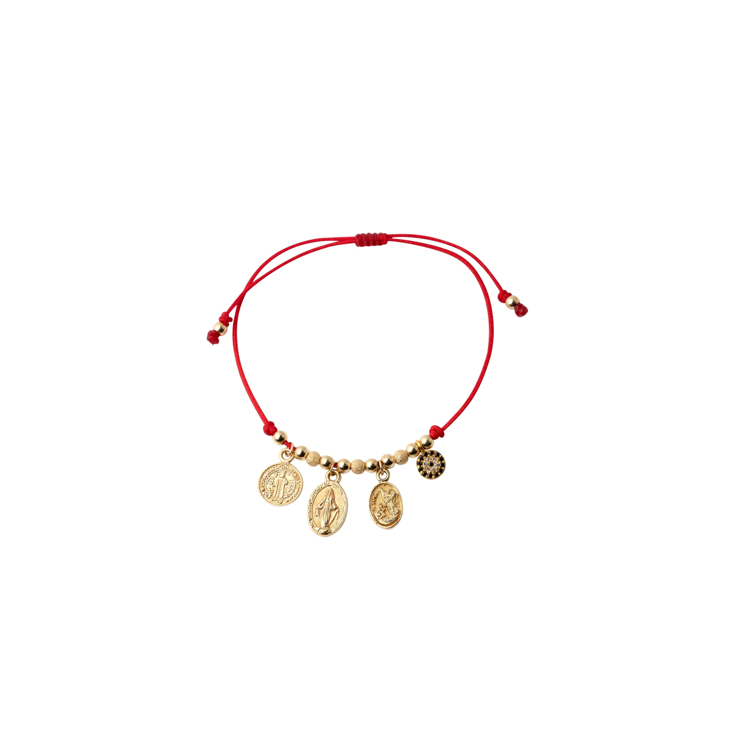 Red String Bracelet with Spiritual Charms