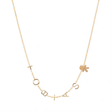 Customizable Gold Letter & Diamond Charms Necklace