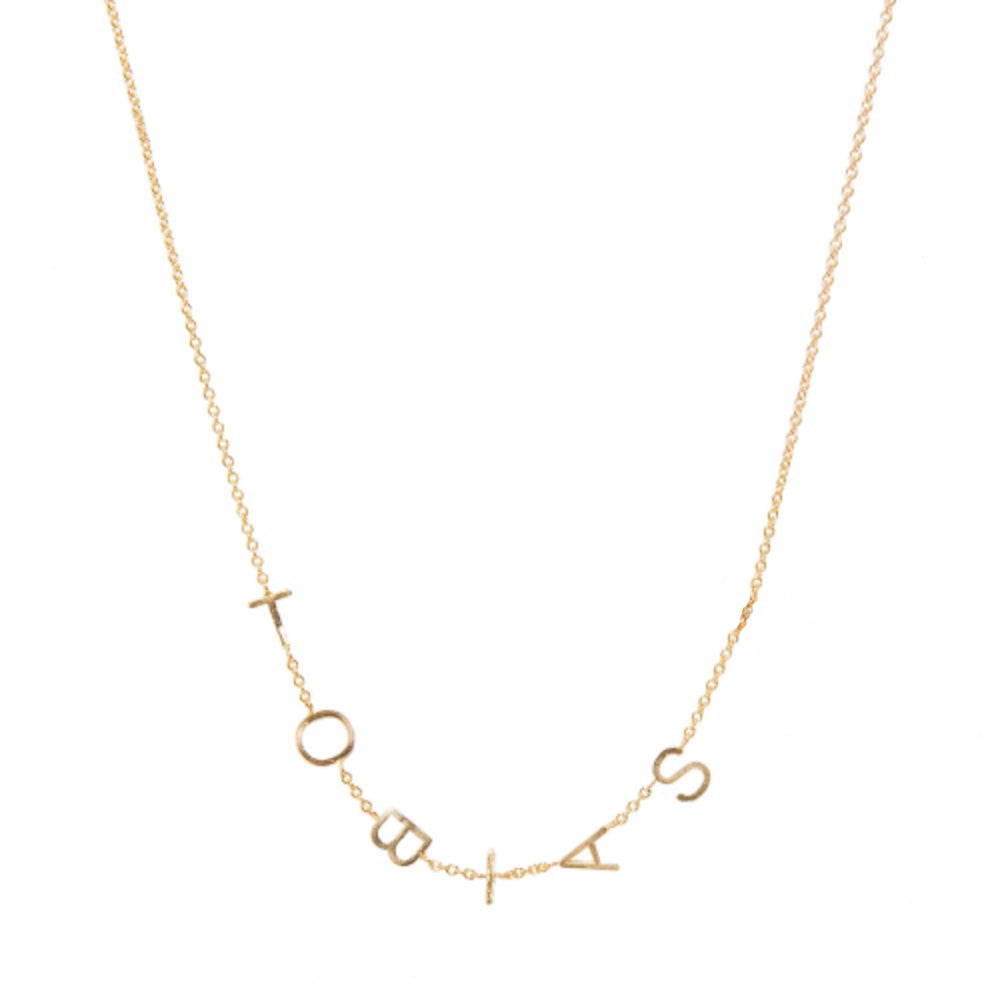 Customizable Gold Letter Necklace