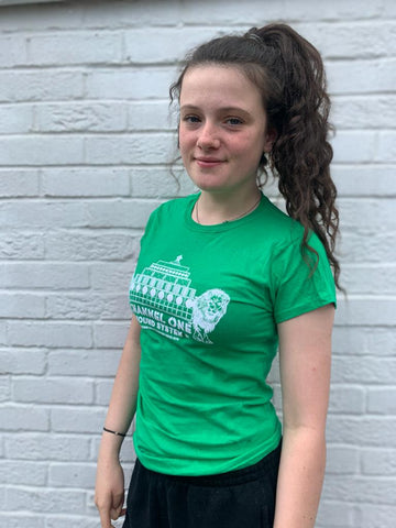 Channel One Stack Lions Green Tshirt - Ladies