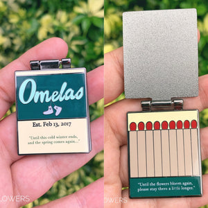"""Omelas Matchbook"" BTS Enamel Pin"