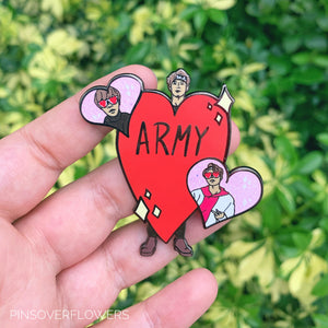 """ARMY Love"" BTS Enamel Pin"