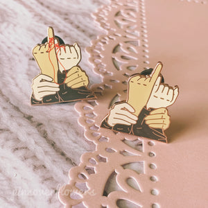 'Vmin Hands' Enamel Pins